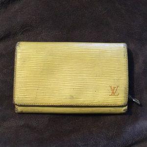 LV yellow epi leather wallet